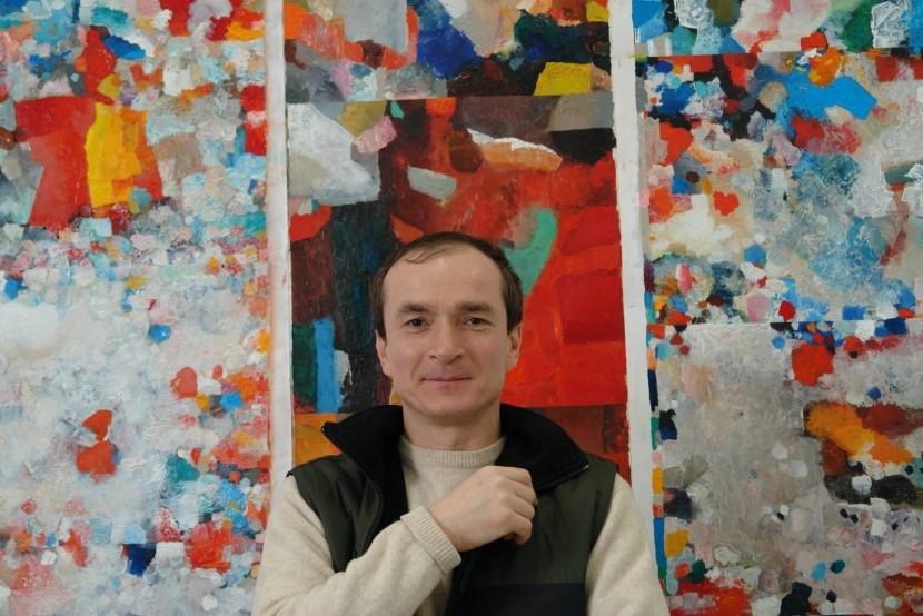 Грузинський та український художник Темо Свірелі, Вермонт Студіо Центр, США, 2010
