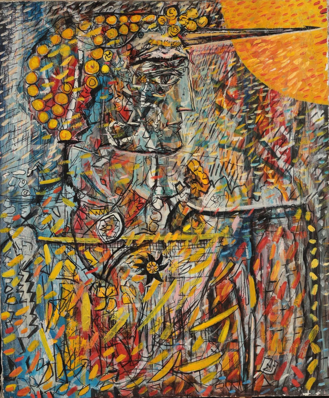 The Son of the Sun. Temo Svirely, georgian-ukrainian artist (born 1965 in Georgia- died 2014 in Ukraine), oil, canvas, 1997