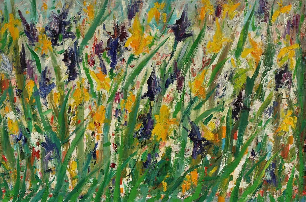 Irisis. Temo Svirely, georgian-ukrainian artist (born 1965 in Georgia - died 2014 in Ukraine), oil, canvas, 2012