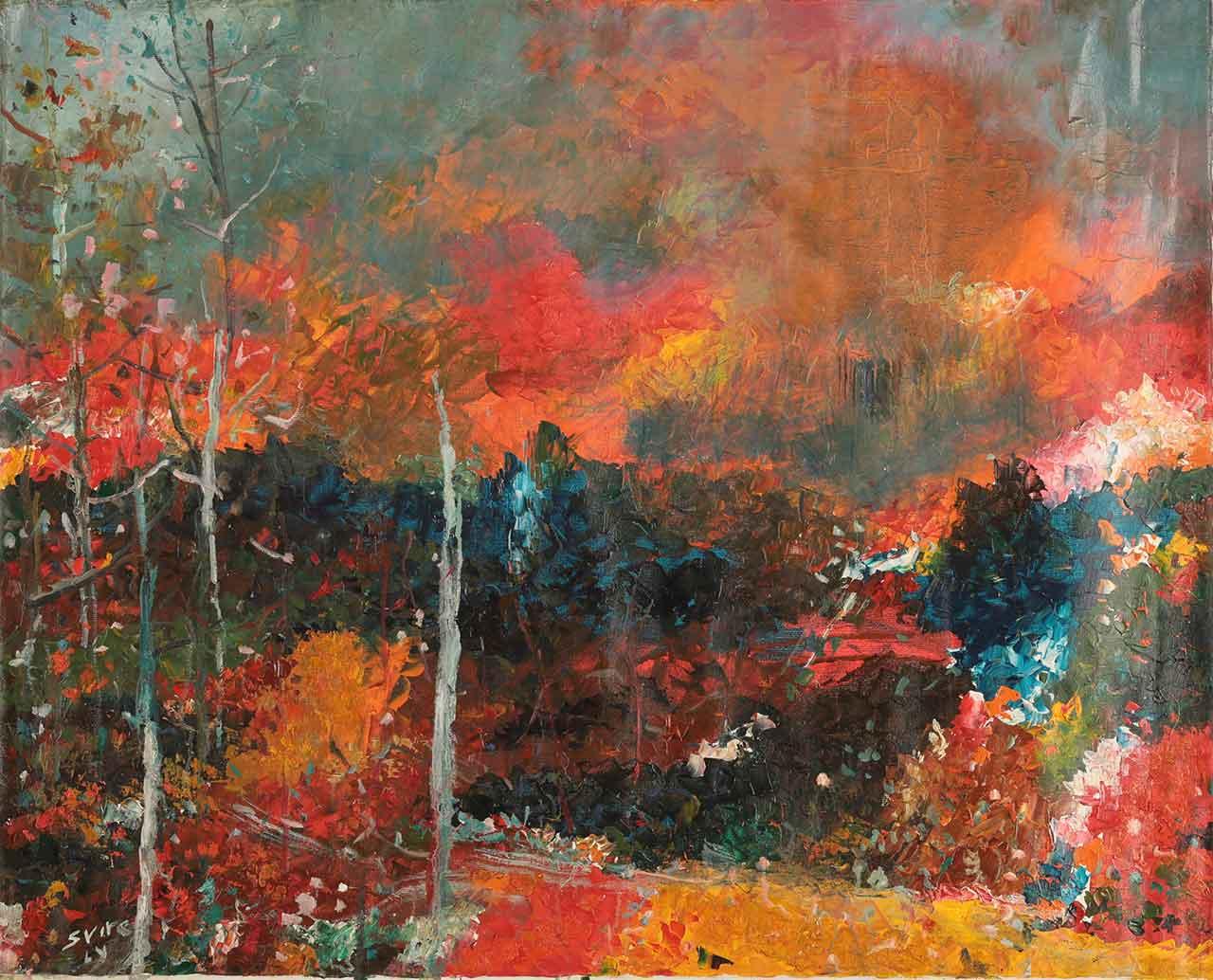 Осінь. Темо Свірелі, грузинський та український художник (народився в 1965 році в Грузії - помер в 2014 році в Україні), олія, полотно, 2010