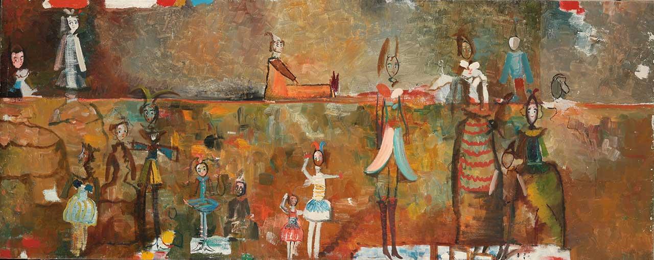 Театр. Темо Свірелі, грузинський та український художник (народився в 1965 році в Грузії - помер в 2014 році в Україні), олія, полотно, 2014