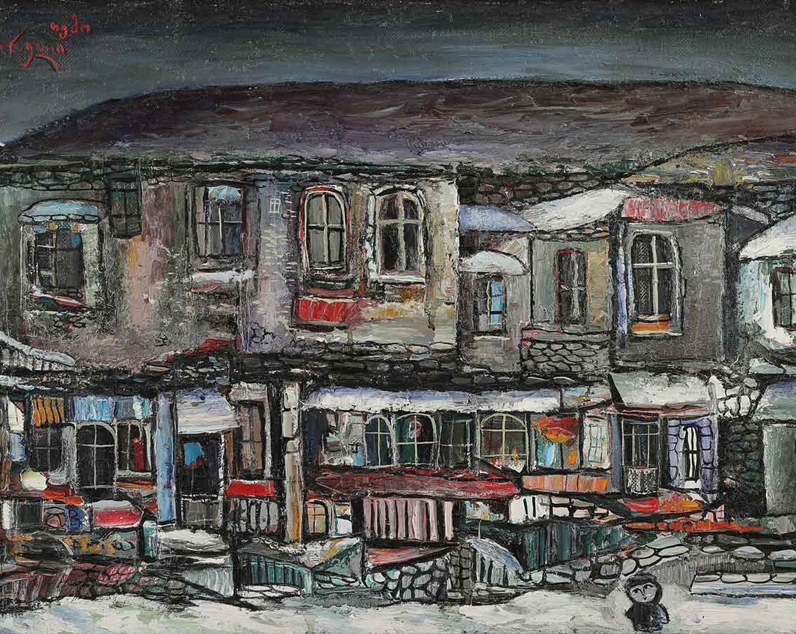 Зима. Темо Свірелі, грузинський та український художник (народився в 1965 році в Грузії - помер в 2014 році в Україні), олія, полотно, 1993
