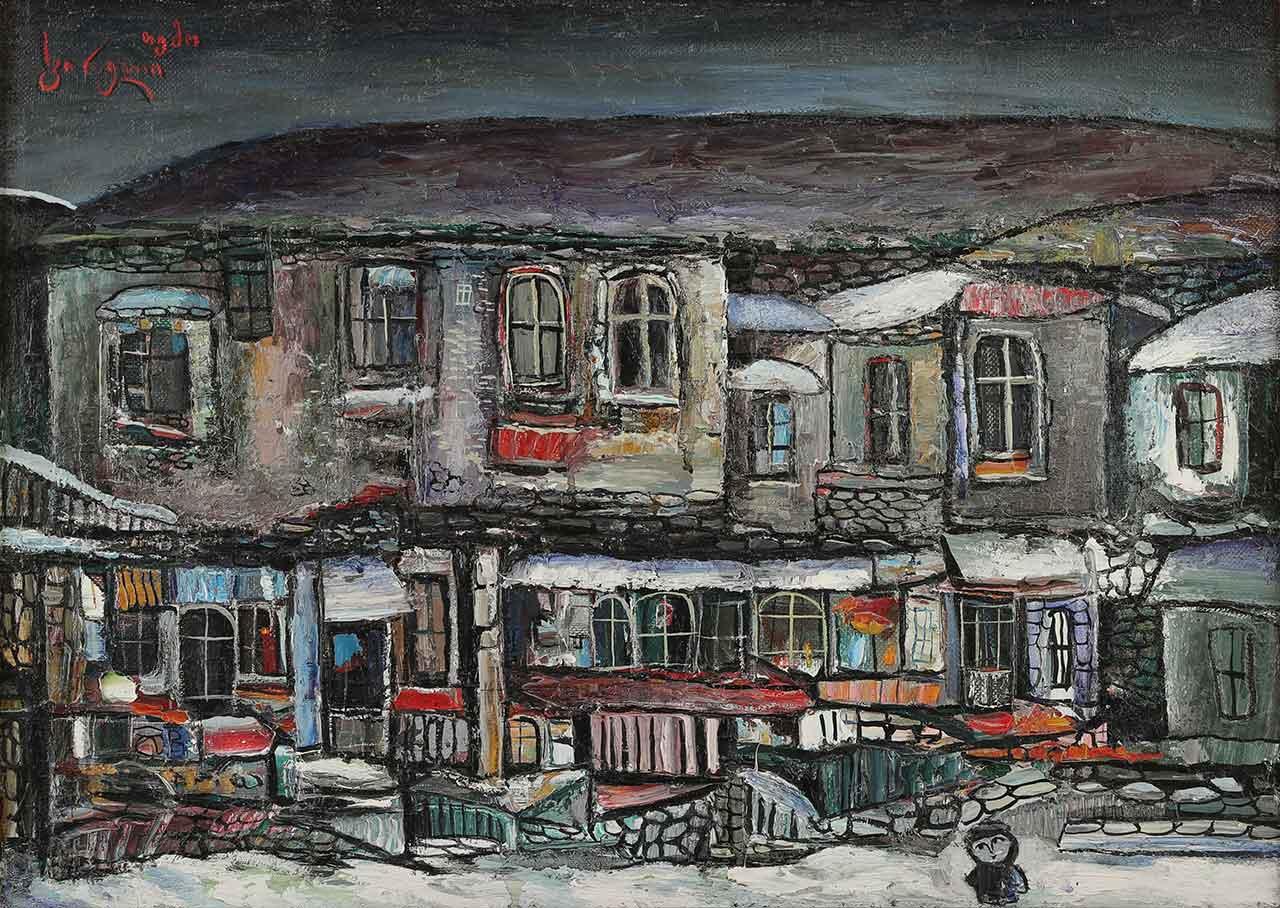 Winter. Temo Svirely, georgian-ukrainian artist (born 1965 in Georgia- died 2014 in Ukraine), oil, canvas, 1993