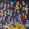 Favorites of the Moon. Temo Svirely, georgian-ukrainian artist (born 1965 in Georgia - died 2014 in Ukraine), oil, canvas, 1997